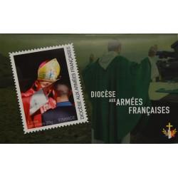 Planche de timbres collector - Série Aumôniers militaires