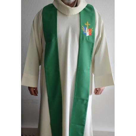 Etole verte pour prêtre- avec logo du diocèse aux Armées