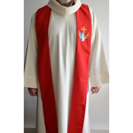Etole rouge pour prêtre- avec logo du diocèse aux Armées