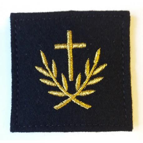 Insigne velcro service courant brodé machine : aumônier du culte catholique