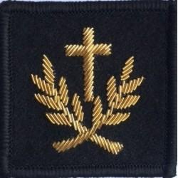 Insigne velcro service courant : aumônier du culte catholique