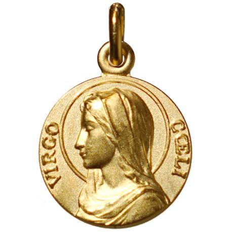 Médaille de la Vierge dans son écrain plaqué Or de 18 mm