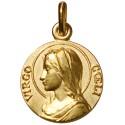 Médaille de la Vierge, dans son écrin, en plaqué Or de 18 mm