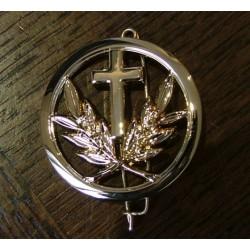 Insigne de béret : aumonier catholique (ou protestant)